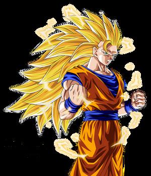 Dragon Ball Son Goku SSJ3 Render The Black