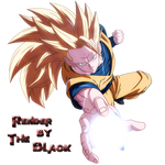 Dragon Ball Son Goku SSJ3 Render The Black by OneBill