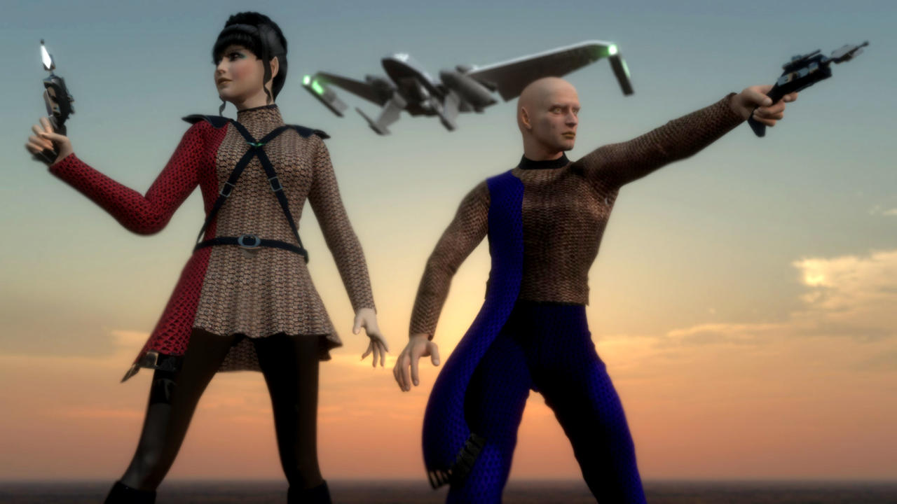 Romulan Landing Party by archangel72367