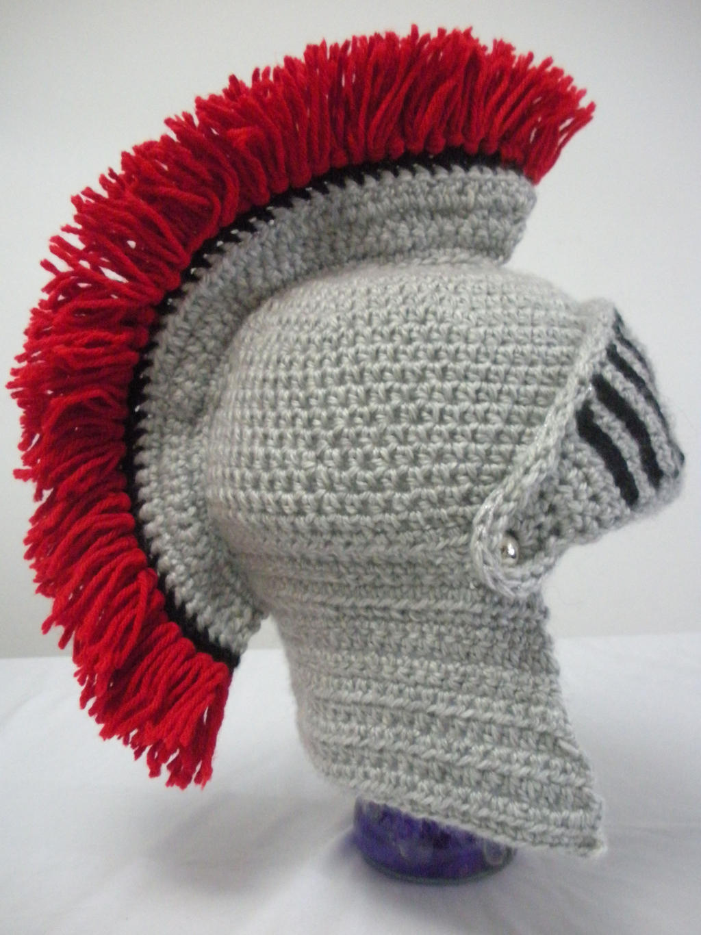 Knight Hat Knitting Pattern : Knight Helmet with Movable Visor by melibusla on DeviantArt