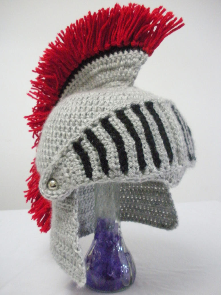 Crocheted Knight Helmet with Movable Visor by melibusla on DeviantArt