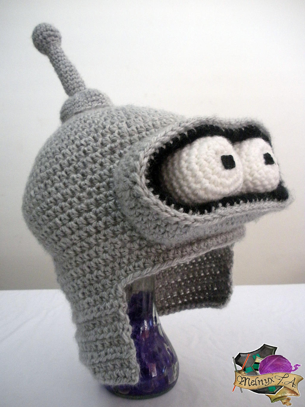 Crocheted bender hat by melibusla on deviantart for Crochet crafts that sell well