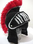 Black Knight Helmet with Movable Visor