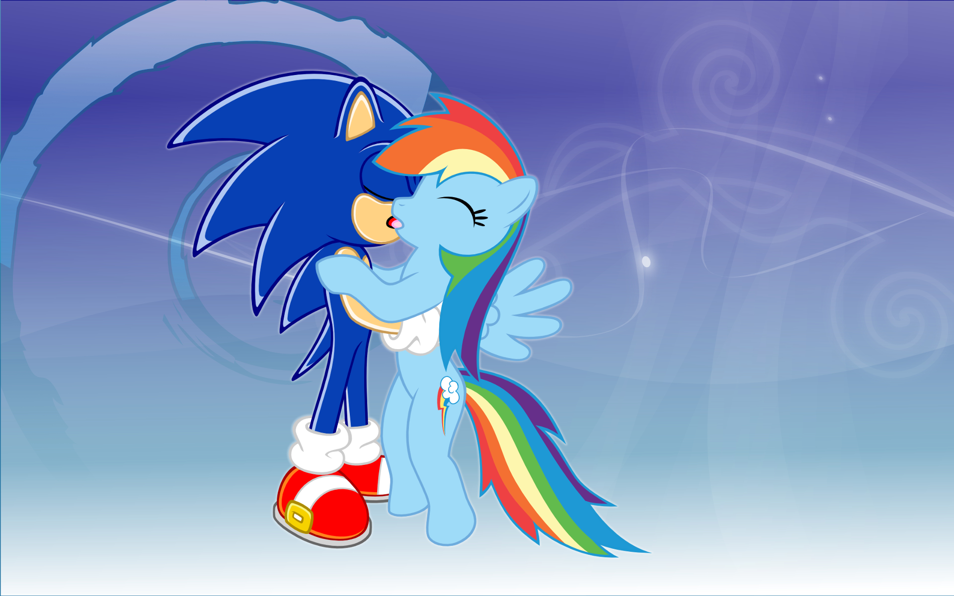 Sonic And Rainbow Dash Wallpaper By Umfpbmjvdybeyxno On Deviantart