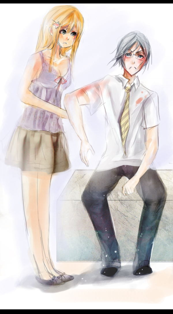 +commission Ishida and Orihime by fluffieball