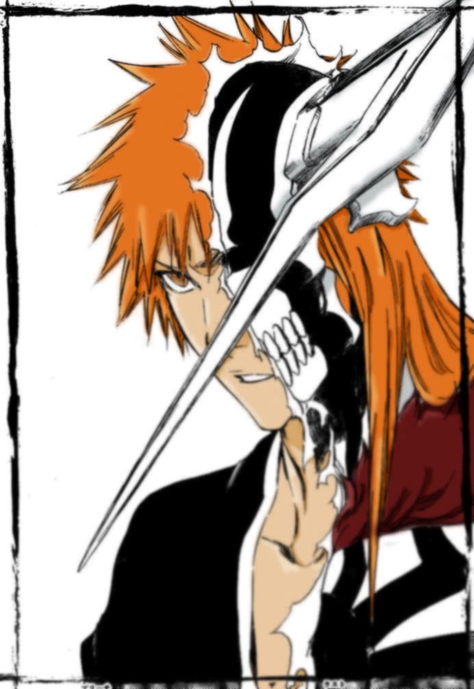 Ichigo full vizard by mangaka ira on deviantart - Ichigo vizard mask ...