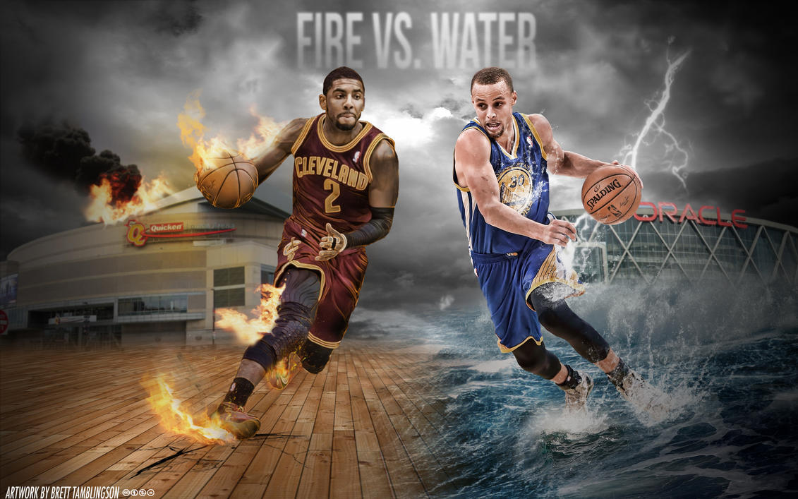 Kyrie Irving and Stephen Curry | Wallpaper by btamdesigns ...