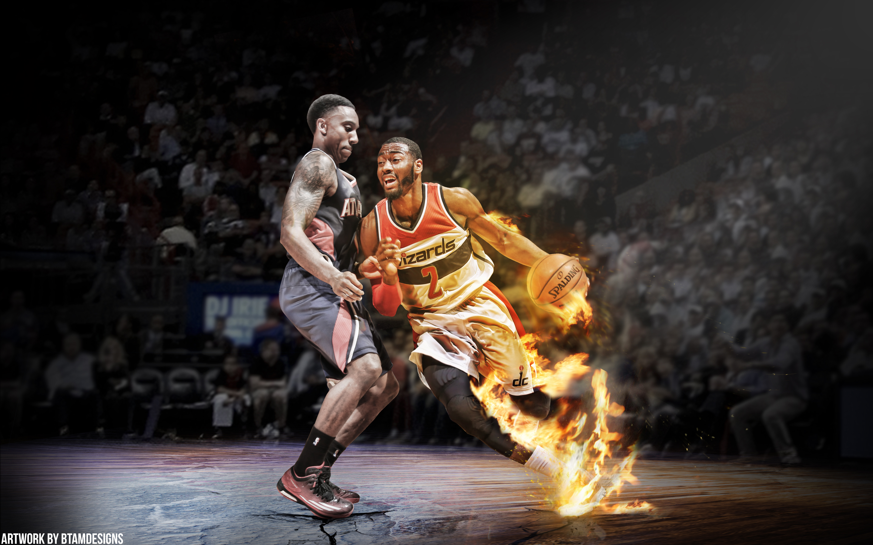 Jeff Teague And John Wall Fire Vs Ice Wallpaper By Btamdesigns