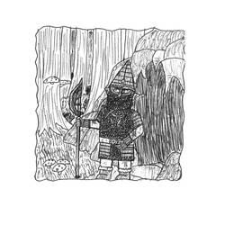 Nederantansie Concept-art: Elite Uldra Warrior by Dwarf-Cartoonist