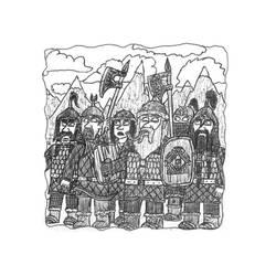 Nederantansie Concept-art: Tundra Dwarves by Dwarf-Cartoonist