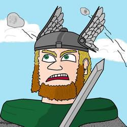 Myself as viking. Dwarf-Cartoonist's avatar. 2019