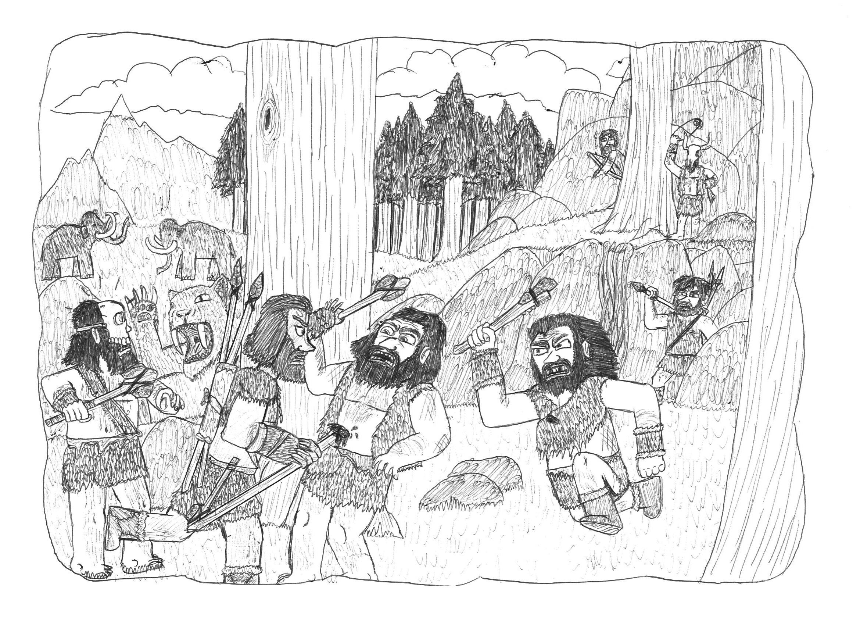 Far Cry Primal Fanart 1 Udam Ambush By Dwarf Cartoonist On Deviantart