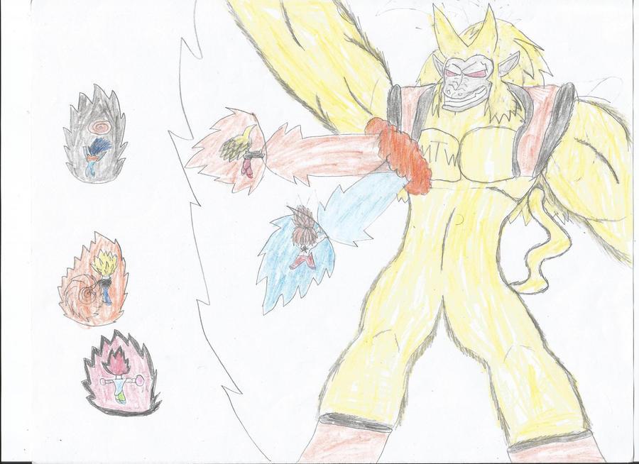 star,baby,cody,kagomaru,and mamoma vs ozaru mtw(me by safehouse599