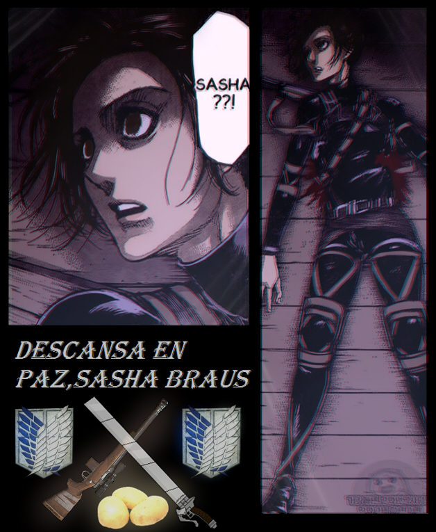 Snk Aot Colored Rest In Peace Sasha Braus By Water Rose457 On Deviantart