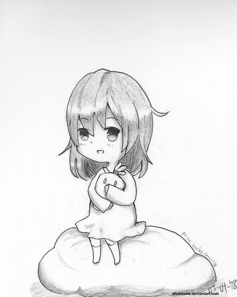 Chibi Shy Girl by AliceLocke