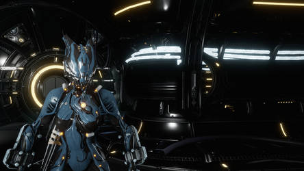 Warframe - Valkyr on orbiter No1
