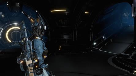 Warframe - Valkyr on orbiter No2