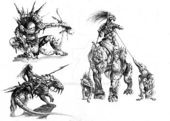 Creatures by sari9349