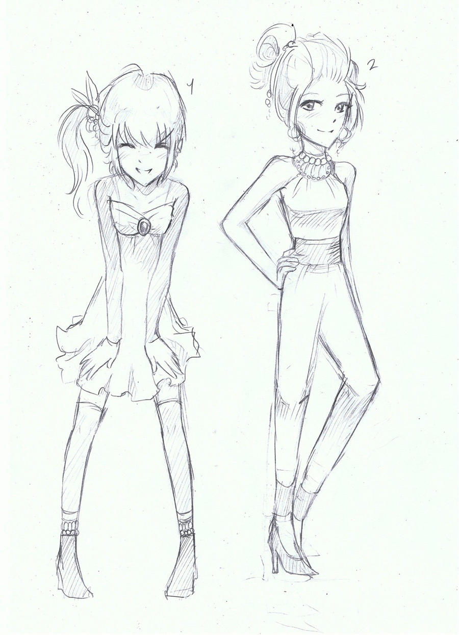 how to draw anime clothes belly shirt