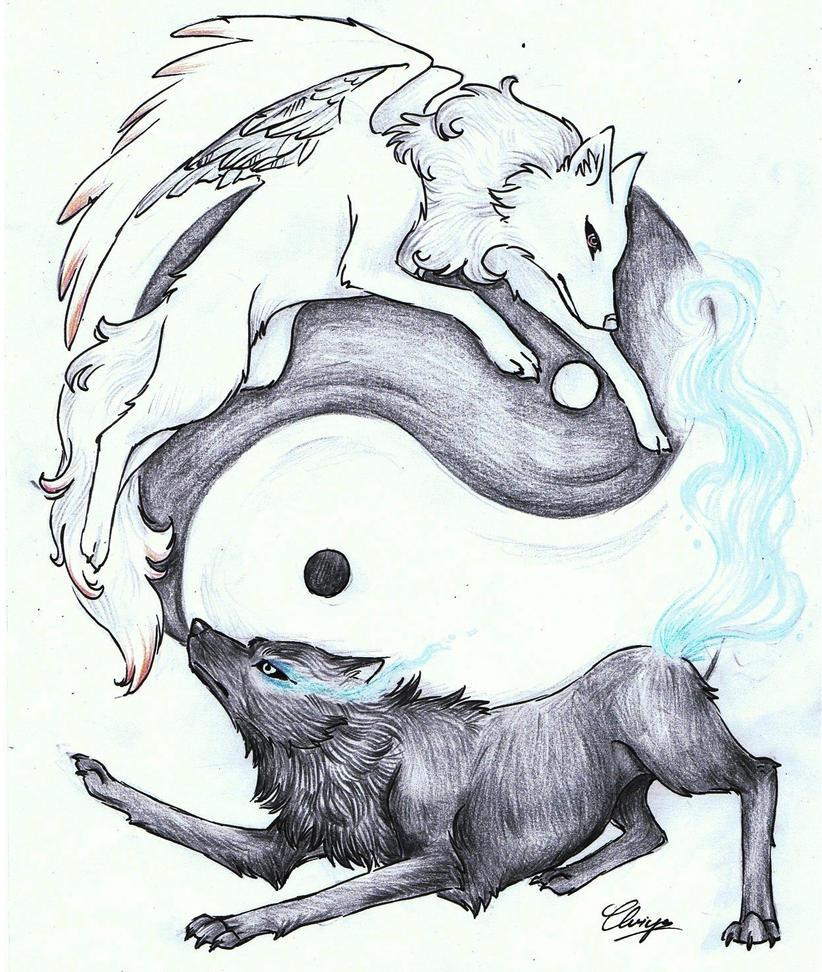 Yin Yang Wallpaper Wolf - info
