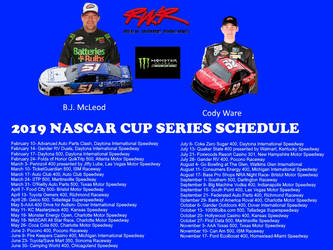 Rick Ware Racing Flyer and Schedule by thrashbandicoot01