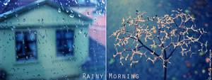 diptych 'Rainy Morning'