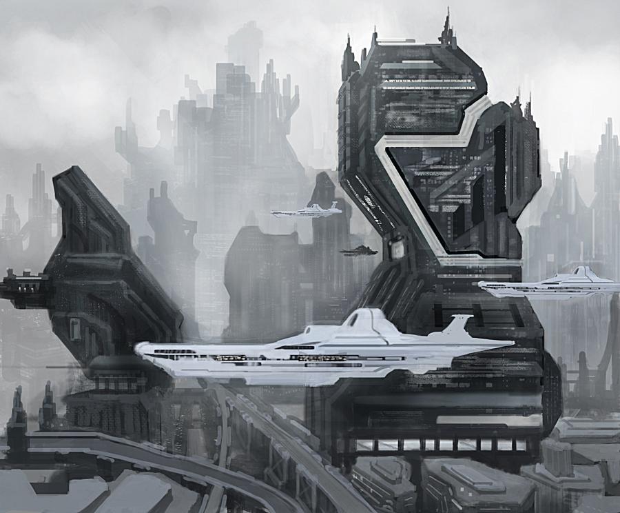 Sci fi city by xxxshadowedsoulxxx