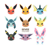 Eevee Evolutions by PickAColour