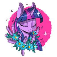 Floral Twilight Sparkle by ColorSoundz