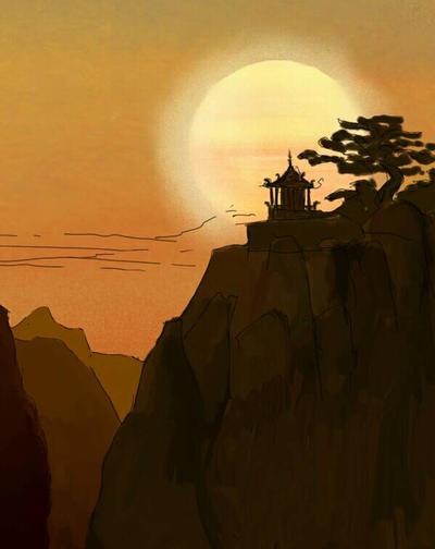 Eastern sunset by olim2004