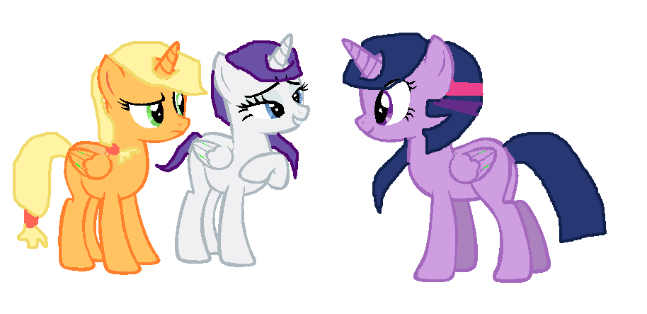 applejack__rarity_and_twilight_by_elizab