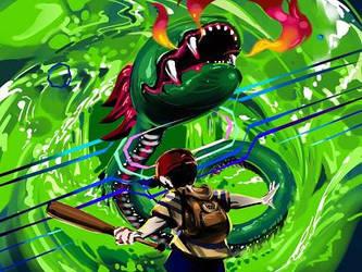 Battle Agains Kraken by CreepyClover