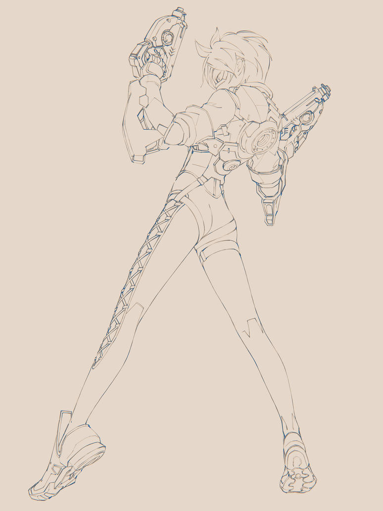 Tracer_rough by iwaisan