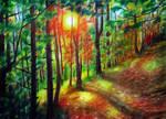Autumn landscape by evlena