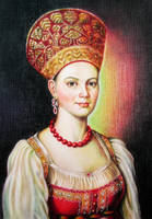 Girl in Russian costume by evlena