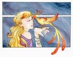 Sarah and the Phoenix by nightkidlaura