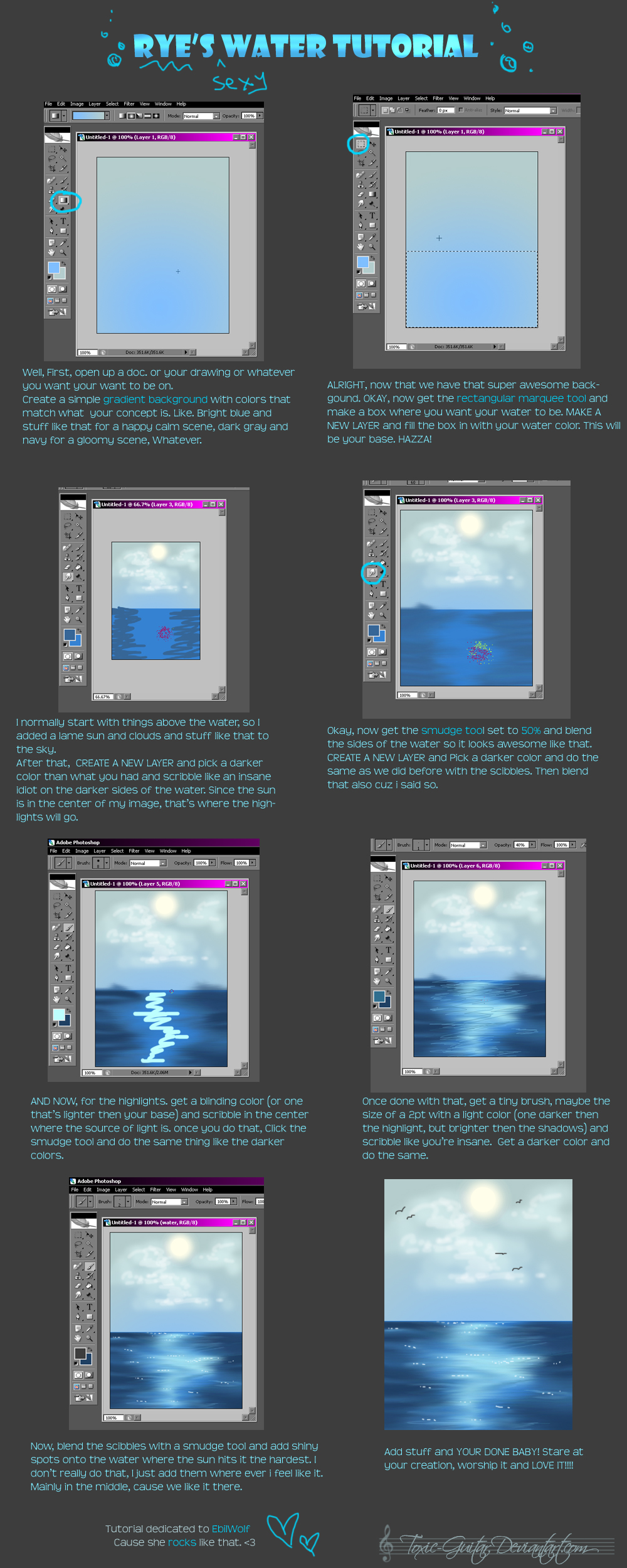 Water Surface Tutorial By Policide On DeviantArt