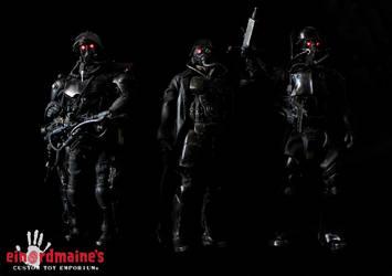 custom PANZERCOPs - Flamer Officer Soldier