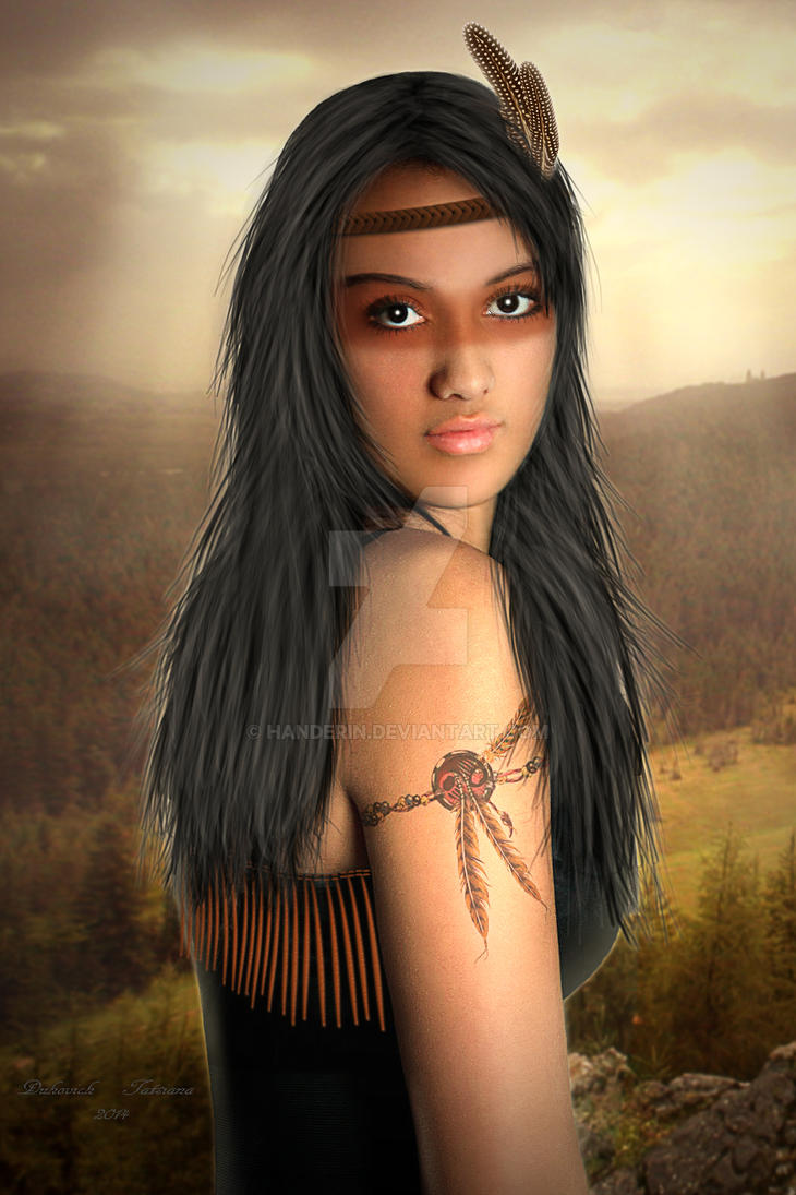 Injun girl by Handerin