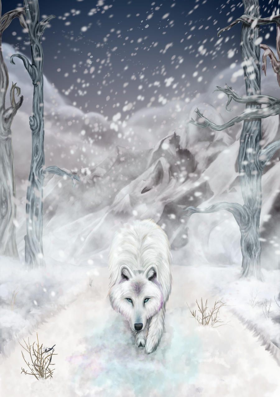 Snow Wolf by Gypsy-Love