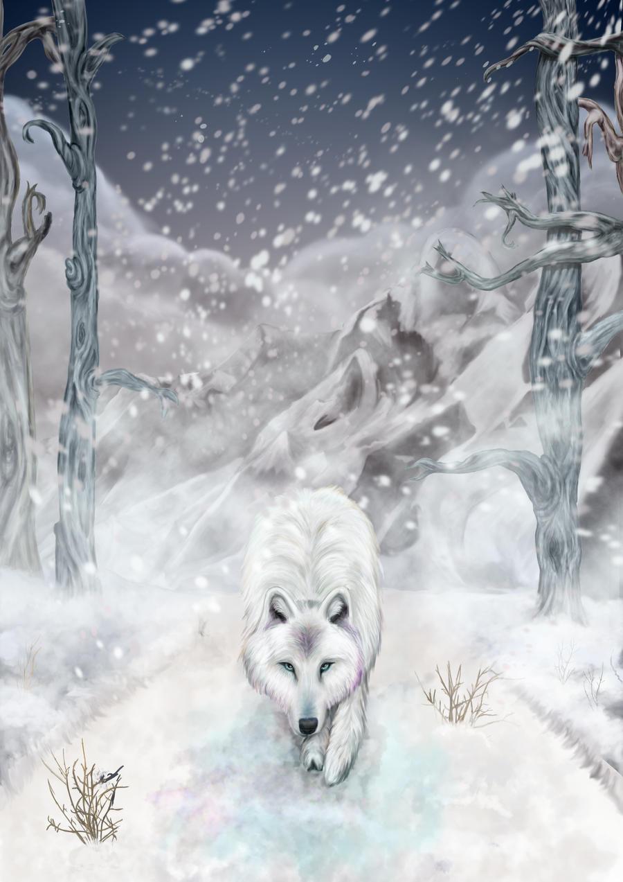 Snow Wolf by Gypsy-Love