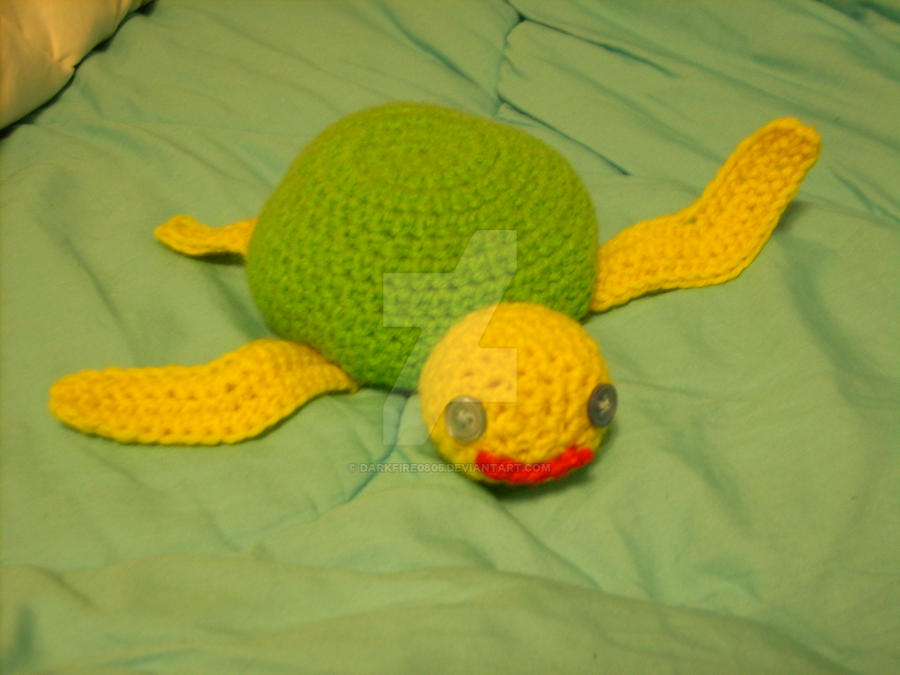sea turtle plush by darkfire0805
