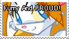 Furry and PROUD::stamp by CelestialWolfen