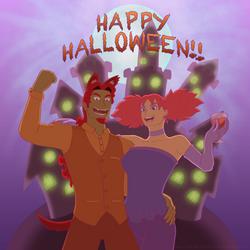 Happy Halloweeeeen! by DragonMarquise