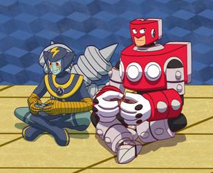 Valentine Art Trade - Friendship Battle! by DragonMarquise