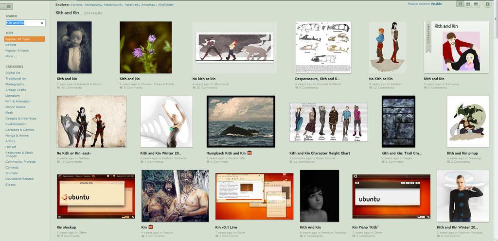 Kith and Kin search screenshot by Katara-Alchemist