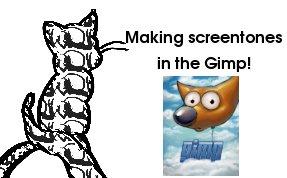 Installing screentones in Gimp by kittytreats