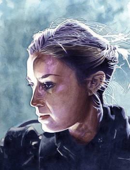 Emily Blunt - Edge of Tomorrow, Acrylic Portrait
