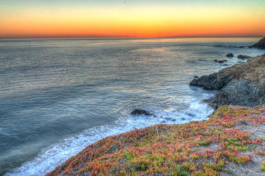 Marin Headlands sunset HDR