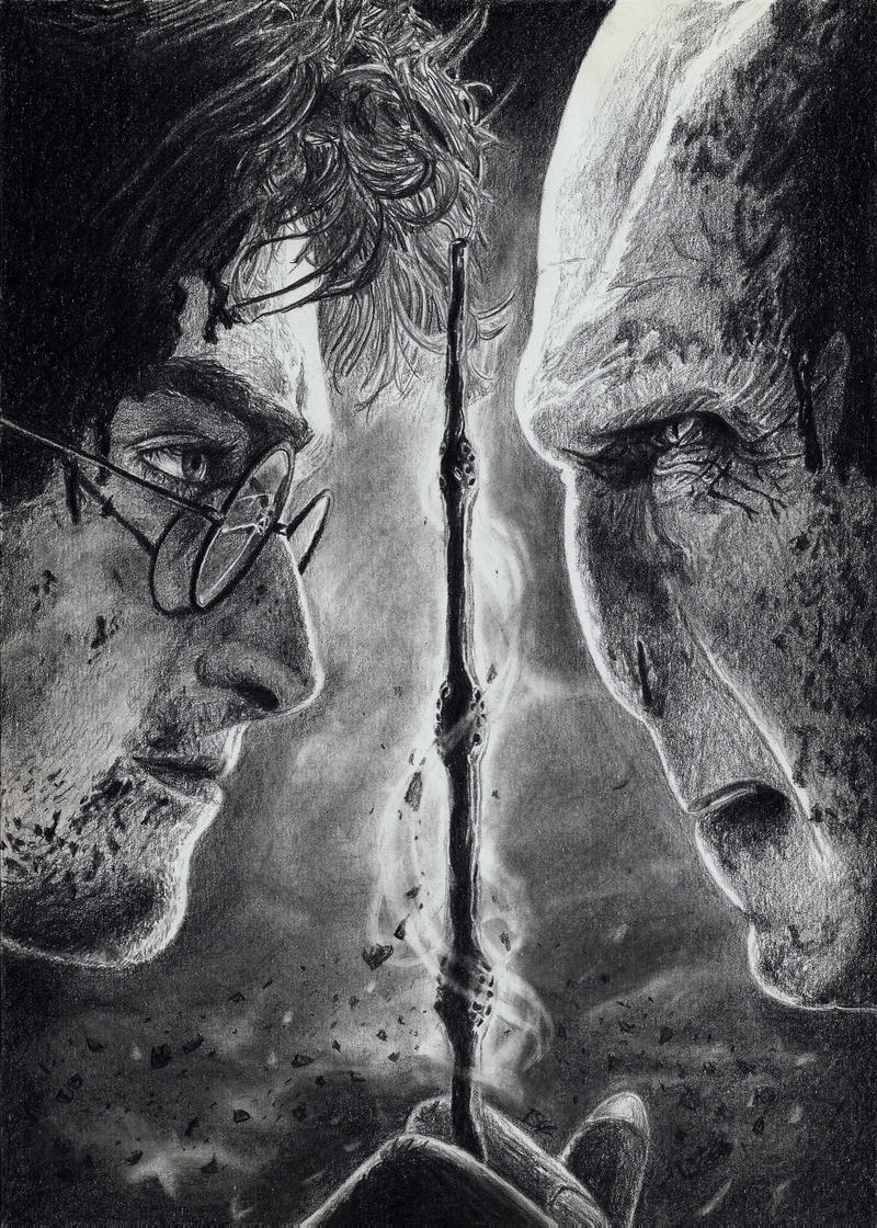 It is a picture of Universal Elder Wand Drawing